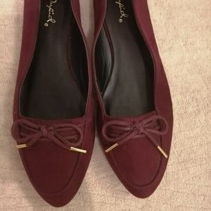 Qupid flats with bow size 7
